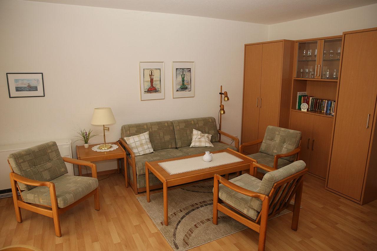 die wohnung huus noordstrand ferienwohnung auf borkum. Black Bedroom Furniture Sets. Home Design Ideas